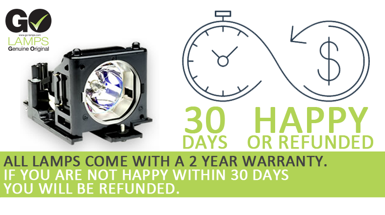 GO Lamps 2 year warranty - 30 days happy or refunded